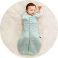 Cocoon Swaddle Bag is best for for newborns and babies either swaddled, or arms-out sleeping once rolling.